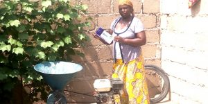 Mrs. Yelwa when visited her home where she do her grinding business. Thanks to Oxfam